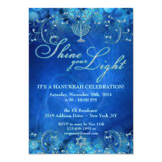 Invitación de la celebración de Jánuca del brillo