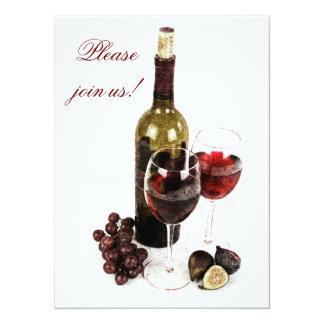 Invitación de la celebración de la cena del vino y