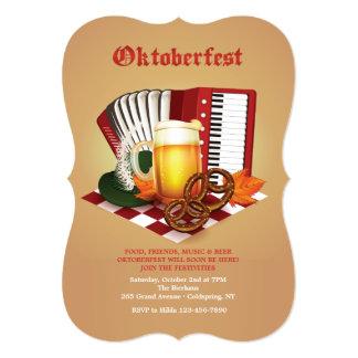 Invitación de la celebración de Oktoberfest
