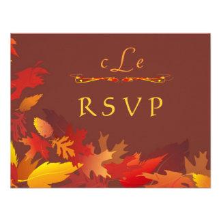 Invitación de la celebración del boda del otoño