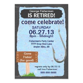 Invitación de la celebración del fiesta de retiro invitación 12,7 x 17,8 cm