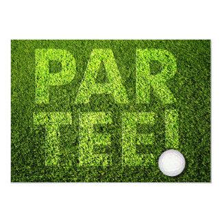 Invitación de la celebración del fiesta del golf