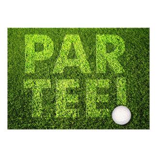 Invitación de la celebración del fiesta del golf d