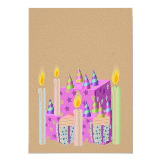 Invitación de la celebración en textura de