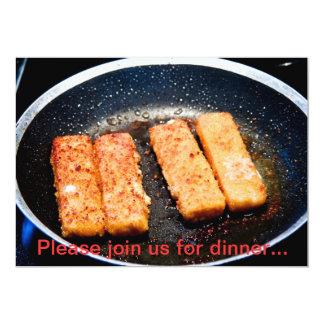 Invitación de la cena de Fishfingers Invitación 12,7 X 17,8 Cm