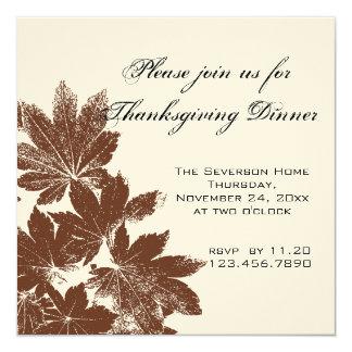 Invitación de la cena de la acción de gracias del