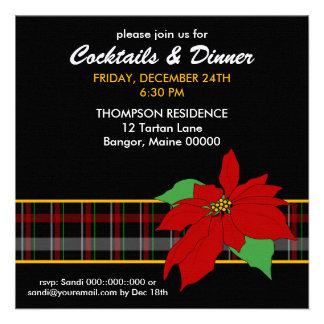 Invitación de la cena de la tela escocesa del Poin