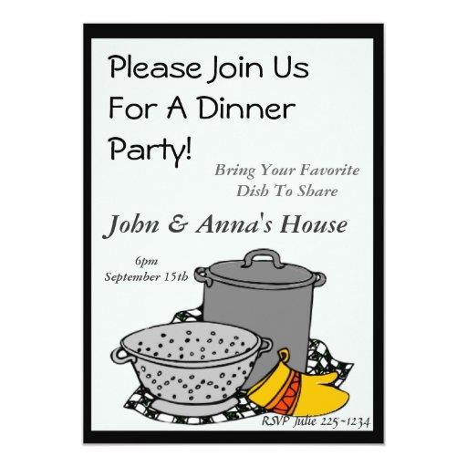 Invitación de la cena de los potes