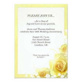 Invitación de la cena del aniversario con los