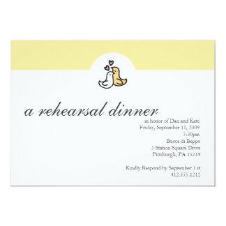 Invitación de la cena del ensayo invitación 12,7 x 17,8 cm