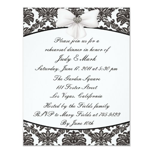Invitación de la cena del ensayo de la elegancia