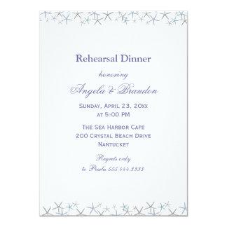 Invitación de la cena del ensayo de la frontera de invitación 11,4 x 15,8 cm