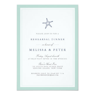 Invitación de la cena del ensayo de las estrellas