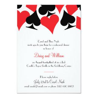 Invitación de la cena del ensayo de Las Vegas del Invitación 11,4 X 15,8 Cm