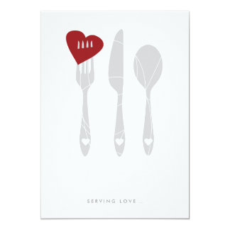 Invitación de la cena del ensayo del amor de la