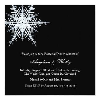 Invitación de la cena del ensayo del boda del