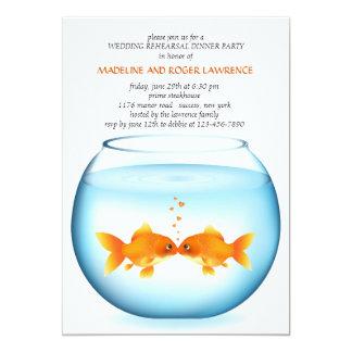 Invitación de la cena del ensayo del boda del invitación 12,7 x 17,8 cm
