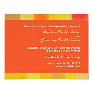 Invitación de la cena del ensayo del boda del invitación 10,8 x 13,9 cm