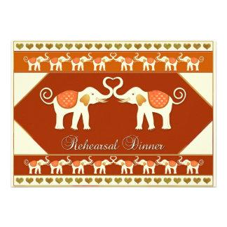 Invitación de la cena del ensayo del boda del elef