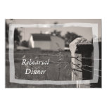 Invitación de la cena del ensayo del boda del país invitación 12,7 x 17,8 cm