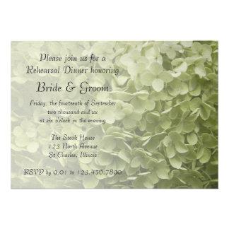Invitación de la cena del ensayo del Hydrangea de
