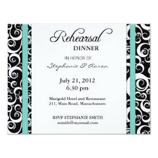 Invitación de la cena del ensayo del remolino del