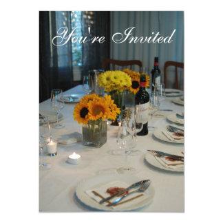 Invitación de la cena del ensayo del tema del
