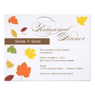 Invitación de la cena del ensayo - hojas de otoño