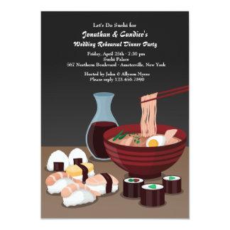Invitación de la cena del sushi
