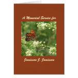 Invitación de la ceremonia conmemorativa, mariposa felicitacion