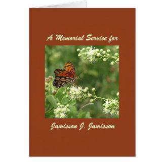 Invitación de la ceremonia conmemorativa mariposa felicitacion
