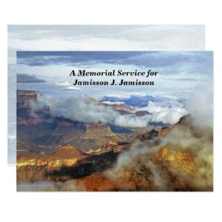 Invitación de la ceremonia conmemorativa, nubes