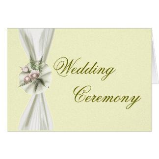 Invitación de la ceremonia de boda tarjeta de felicitación