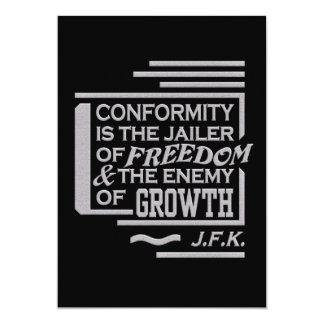 Invitación de la cita de JFK