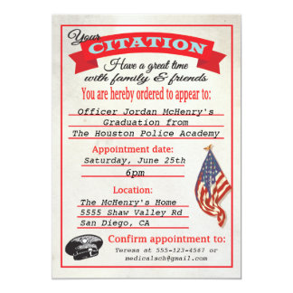Invitación de la citación de la graduación de la invitación 12,7 x 17,8 cm
