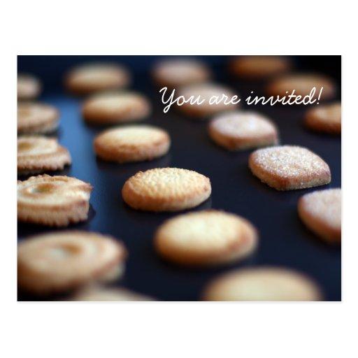 Invitación de la colección de las galletas de tarjetas postales