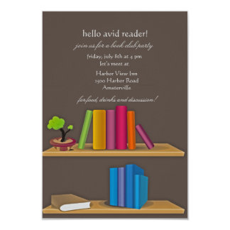 Invitación de la colección de libros