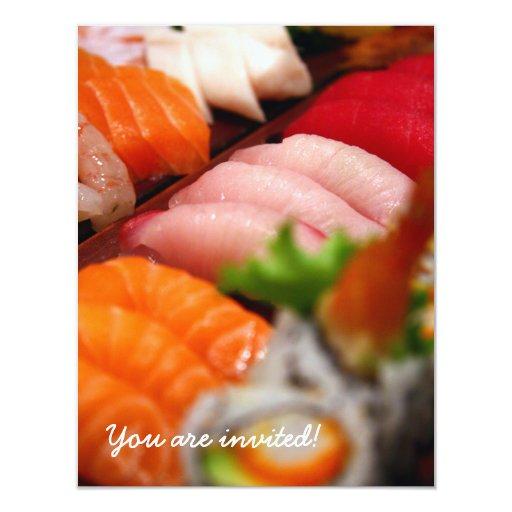 Invitación de la colección del sushi de Japón