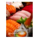 Invitación de la colección del sushi de Japón Tarjetas Postales