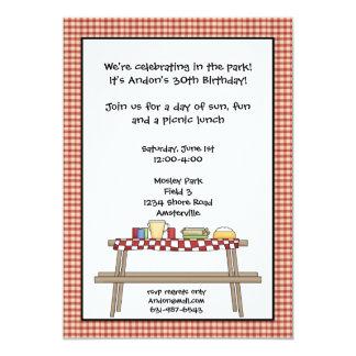 Invitación de la comida campestre