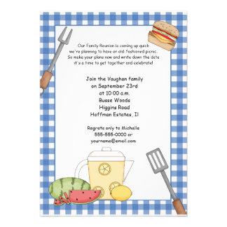 Invitación de la comida campestre de la reunión de