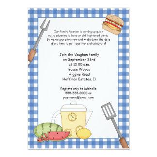 Invitación de la comida campestre de la reunión de invitación 12,7 x 17,8 cm