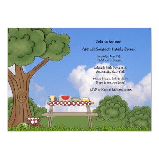Invitación de la comida campestre del verano