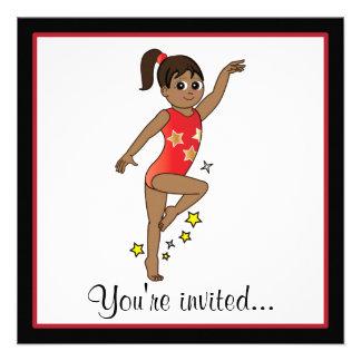 Invitación de la competencia de la gimnasia