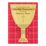 Invitación de la comunión de la cáliz del oro