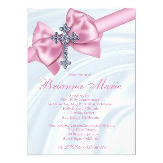 Invitación de la comunión de la cruz del diamante