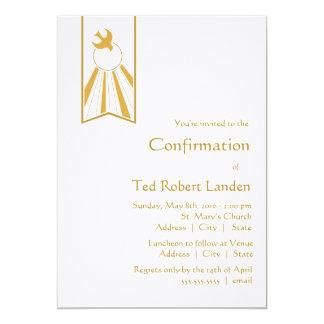 Invitación de la confirmación invitación 12,7 x 17,8 cm