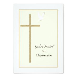 Invitación de la confirmación -- Cruz y paloma
