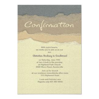 Invitación de la confirmación del filo invitación 12,7 x 17,8 cm