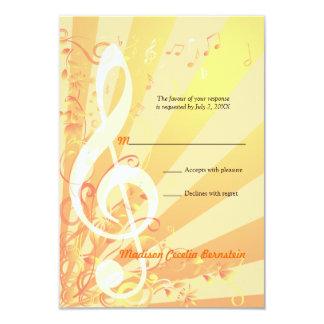 Invitación de la contestación de Mitzvah del palo Invitación 8,9 X 12,7 Cm